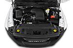 Car Stock 2021 Ram 1500-Classic Warlock 4 Door Pick-up Engine  high angle detail view