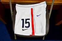 San Diego, CA - Sunday July 30, 2017: Megan Rapinoe during a 2017 Tournament of Nations match between the women's national teams of the United States (USA) and Brazil (BRA) at Qualcomm Stadium.