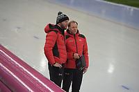 SPEED SKATING: HAMAR: Viking Skipet, 01-02-2019, ISU World Cup Speed Skating, Remmelt Eldering (trainer/coach Canada), Bart Schouten (trainer/coach Canada), ©photo Martin de Jong