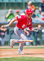15 March 2016: Washington Nationals infielder Danny Espinosa in action during a Spring Training pre-season game against the Houston Astros at Osceola County Stadium in Kissimmee, Florida. The Nationals defeated the Astros 6-4 in Grapefruit League play. Mandatory Credit: Ed Wolfstein Photo *** RAW (NEF) Image File Available ***
