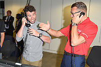 Mark Cavendish<br /> on the trading floor for the BGC Charity Day 2016, Canary Wharf, London.<br /> <br /> <br /> ©Ash Knotek  D3152  12/09/2016