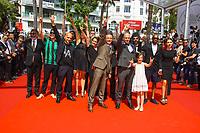 Arthur DE PINS, Alexis DUCORD, Mat BASTARD et Esther CORVEZ-BEAUDOIN sur le tapis rouge pour la projection du film RODIN lors du soixante-dixième (70ème) Festival du Film à Cannes, Palais des Festivals et des Congres, Cannes, Sud de la France, mercredi 24 mai 2017. Philippe FARJON / VISUAL Press Agency