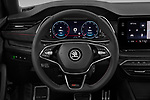 Car pictures of steering wheel view of a 2020 Skoda Octavia-Combi RS 5 Door Wagon Steering Wheel