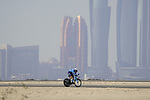 Hector Carretero (ESP) Movistar Team during Stage 2 of the 2021 UAE Tour an individual time trial running 13km around  Al Hudayriyat Island, Abu Dhabi, UAE. 22nd February 2021.  <br /> Picture: Eoin Clarke | Cyclefile<br /> <br /> All photos usage must carry mandatory copyright credit (© Cyclefile | Eoin Clarke)