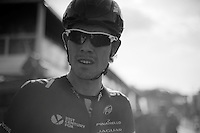 After being in the breakaway all day Luke Rowe (GBR/SKY) tried to go for it at his own in the finale. He was caught with only a few kilometers to go. <br /> <br /> 102nd Scheldeprijs 2014
