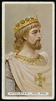 KING ATHELSTAN  King of England (924-939) / Unattributed design on a cigarette card / -939
