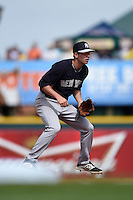 New York Yankees shortstop Tyler Wade (73) during a Spring Training game against the Pittsburgh Pirates on March 5, 2015 at McKechnie Field in Bradenton, Florida.  New York defeated Pittsburgh 2-1.  (Mike Janes/Four Seam Images)
