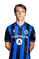 20th August 2020, Brugge, Belgium;  Lynnt Audoor pictured during the team photo shoot of Club Brugge NXT prior the Proximus league football season 2020 - 2021 at the Belfius Base camp