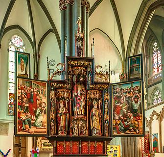 Deutschland, Nordrhein-Westfalen, Xanten: ehemalige Stiftskirche St. Viktor (Xantener Dom) - Matthiasaltar | Germany, Northrhine-Westphalia, Xanten: Xanten cathedral - Matthias Altar
