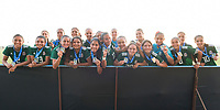 Bradenton, FL - Sunday, June 12, 2018: Mexico during a U-17 Women's Championship Finals match between USA and Mexico at IMG Academy.  USA defeated Mexico 3-2 to win the championship.