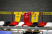 24-04-2021: Volleybal: Amysoft Lycurgus v Draisma Dynamo: Groningen Dynamo had shirt opgehangen ter ondersteuning
