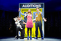 London, UK. 21.03.2014. I CAN'T SING, by Harry Hill and Steve Brown, directed by Sean Foley, opens at the London Palladium. Picture shows: Simon Lipkin (Barlow the Dog), Cynthia Erivo (Shanice) and Alan Morrissey (Max). Photograph © Jane Hobson.