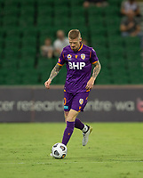 27th March 2021; HBF Park, Perth, Western Australia, Australia; A League Football, Perth Glory versus Newcastle Jets; Andy Keogh of Perth Glory controls the ball in Glory's half
