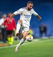 12th September 2021; Estadio Santiago Bernabeu, Madrid, Spain; La Liga, Real Madrid CF versus RC Celta de Vigo; Dani Carvajal controls the ball