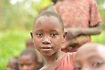 Children in Kibande Village in Karongi District, Western Rwanda.