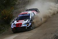21st May 2021, Arganil, Portugal. WRC Rally of Portugal;  Elfyn Evans-Toyota Yaris WRC