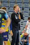 Trainer Martin Schwalb (Rhein Neckar Löwen) kann es sich nicht mehr anschauen - beim Bundesligaspiel: Rhein Neckar Loewen gegen SC DHfK Handball Leipzig am 15.10.2020 in der SAP-Arena in Mannheim<br /> <br /> Foto © PIX-Sportfotos *** Foto ist honorarpflichtig! *** Auf Anfrage in hoeherer Qualitaet/Aufloesung. Belegexemplar erbeten. Veroeffentlichung ausschliesslich fuer journalistisch-publizistische Zwecke. For editorial use only.