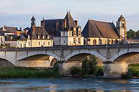 France, Indre-et-Loire (37), Amboise, Vallée de la Loire classée Patrimoine Mondial de l'UNESCO, le pont sur la Loire // France, Indre et Loire, Amboise, Loire Valley listed as World Heritage by UNESCO, the bridge over the Loire