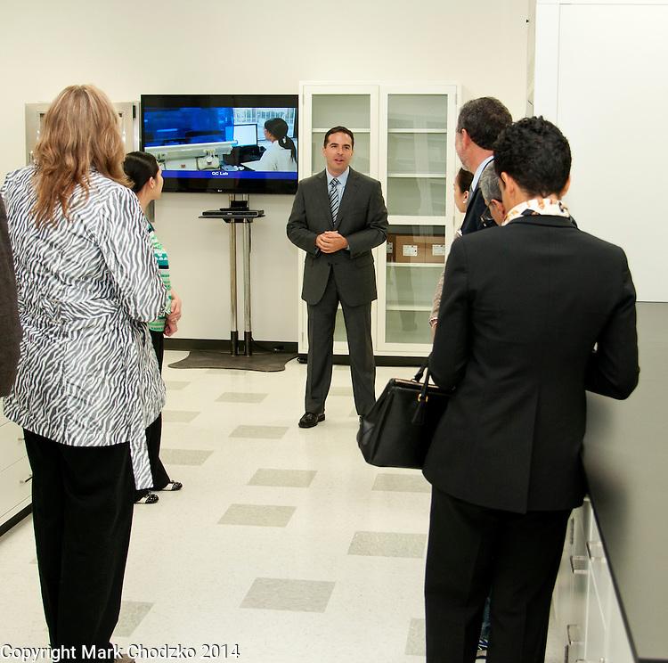 Prolacta executive giving tour of new facility