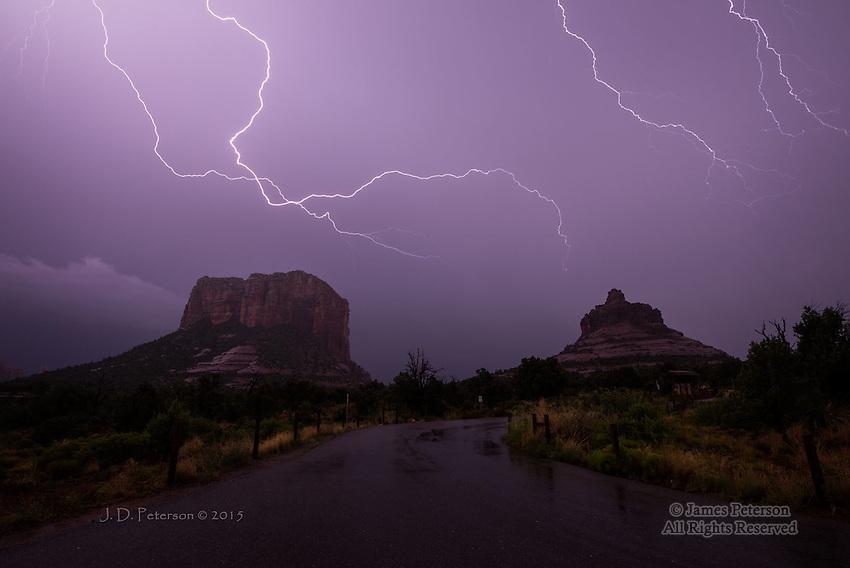 Monsoon Lightning over Courthouse Vista