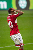 3rd October 2020; Riverside Stadium, Middlesbrough, Cleveland, England; English Football League Championship Football, Middlesbrough versus Barnsley; Chuba Akpom of Middlesbrough FC disappointed after shooting wide