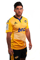 Nehe Milner-Skudder. Hurricanes Super Rugby official headshots at Rugby League Park, Wellington, New Zealand on Tuesday, 13 January 2015. Photo: Dave Lintott / lintottphoto.co.nz