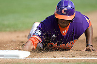 Clemson's Chris Epps in Game 4 of the NCAA Division One Men's College World Series on Monday June 21st, 2010 at Johnny Rosenblatt Stadium in Omaha, Nebraska.  (Photo by Andrew Woolley / Four Seam Images)