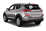 Car pictures of rear three quarter view of a 2019 Hyundai Tucson Value 5 Door SUV angular rear