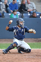 Elvin Soto #7 of the Hillsboro Hops during a game against the Vancouver Canadians at Nat Bailey Stadium on July 24, 2014 in Vancouver, British Columbia. Vancouver defeated Hillsboro, 5-2. (Larry Goren/Four Seam Images)