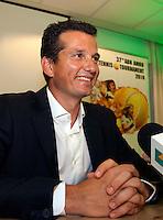 30-9-09, Amsterdam, Tennis, Persconferentie ABNAMROWTT, Richard Krajicek geeft de eerste spelers namen vrij