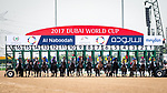 DUBAI, UNITED ARAB EMIRATES - MARCH 25: The start of the UAE Derby in which Thunder Snow #13 ridden by Christope Lemaire (blue hat), wins in a photo finish at Meydan Racecourse during Dubai World Cup Day on March 25, 2017 in Dubai, United Arab Emirates. (Photo by Douglas DeFelice/Eclipse Sportswire/Getty Images)