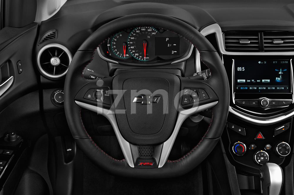 Car pictures of steering wheel view of a 2020 Chevrolet Sonic LT RS Select Doors Door Hatchback