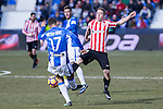 Club Deportivo Leganes's Victor Diaz, Atletic de Bilbao's Iker Muniain during the match of La Liga between Leganes and Athletic Club at Butarque Stadium  in Madrid , Spain. January  14, 2017. (ALTERPHOTOS/Rodrigo Jimenez)