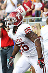 Oklahoma Sooners running back Damien Williams (26) in action during the game between the Oklahoma Sooners and the TCU Horned Frogs  at the Amon G. Carter Stadium in Fort Worth, Texas. OU defeats TCU 24 to 17.