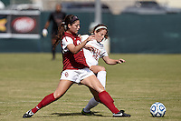 SAN ANTONIO, TX - OCTOBER 31, 2012: The Big 12 Conference Women's Soccer Championship - Game 1 featuring the University of Texas Longhorns vs. the University of Oklahoma Sooners at Blossom Soccer Stadium. (Photo by Jeff Huehn)