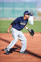 Edward Russell (47), from Vacaville, California, while playing for the Padres during the Under Armour Baseball Factory Recruiting Classic at Red Mountain Baseball Complex on December 28, 2017 in Mesa, Arizona. (Zachary Lucy/Four Seam Images)
