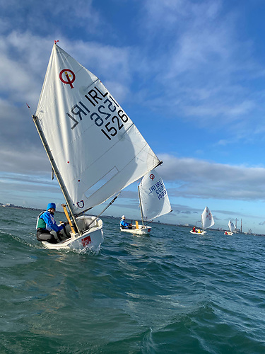Dun Laoghaire Optimist Group in training Photo: Peter Fagan