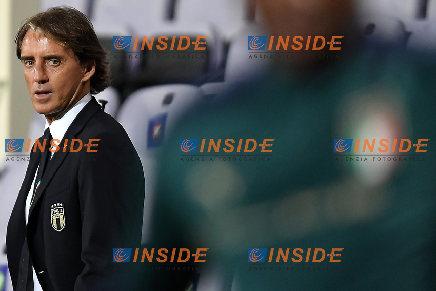 Roberto Mancini coach of Italy looks on prior to the friendly football match between Italy and Moldova at Artemio Franchi Stadium in Firenze (Italy), October, 7th 2020. Photo Andrea Staccioli/ Insidefoto