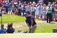 Anthony beefy Johnston chips onto the 14th green during the BMW PGA Golf Championship at Wentworth Golf Course, Wentworth Drive, Virginia Water, England on 27 May 2017. Photo by Steve McCarthy/PRiME Media Images.