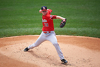 Louisville Bats starting pitcher Daniel Wright (17) delivers a pitch during a game against the Buffalo Bisons on June 23, 2016 at Coca-Cola Field in Buffalo, New York.  Buffalo defeated Louisville 9-6.  (Mike Janes/Four Seam Images)