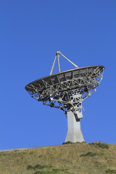 Parabolic or round radio telescope for radio astronomy pointing skywards, Front Range Mountains, Colorado, USA. .  John leads private photo tours in Boulder and throughout Colorado. Year-round Colorado photo tours.