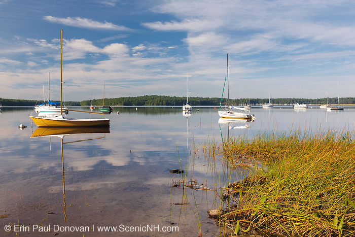 Sailboats at Lake Massabesic in Auburn, New Hampshire. Located in Manchester and Auburn, this lake covers over 2,500 acres, and it is the drinking water supply for the Manchester area.