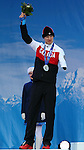 Mark Arendz, Sochi 2014. Para Nordic Skiing // Ski paranordique.<br /> Mark Arendz celebrates his Silver medal win in the 7.5km standing event // Mark Arendz célèbre sa médaille d'argent dans l'épreuve debout de 7,5 km. 09/03/2014.