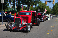 Red 1932 Ford Coupe, Return to Renton Auto Show 2017, Washington, USA..