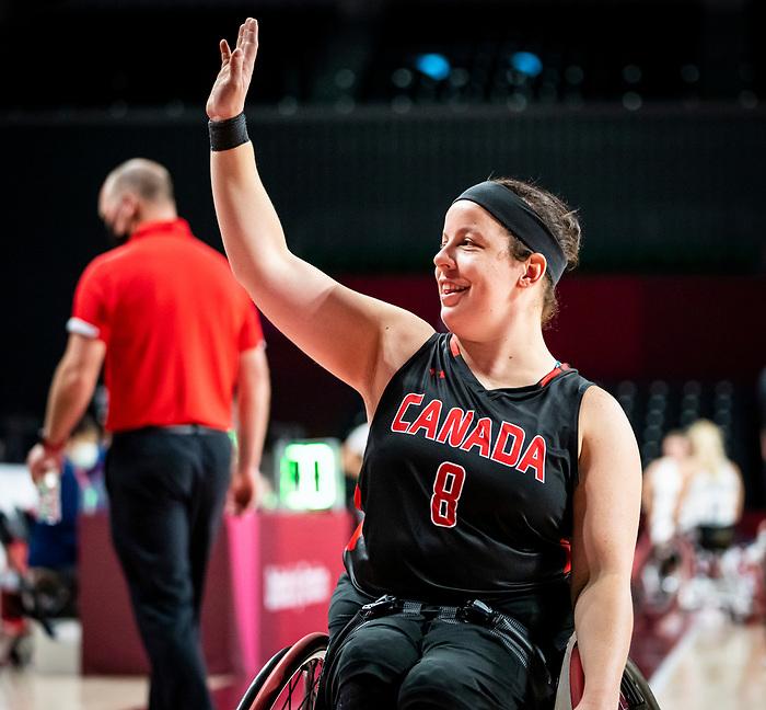 Tamara Steeves, Tokyo 2020 - Wheelchair Basketball // Basketball en fauteuil roulant. <br /> Canada takes on Great Britain in the preliminary round // Le Canada affronte la Grande-Bretagne au tour préliminaire. 25/08/2021.