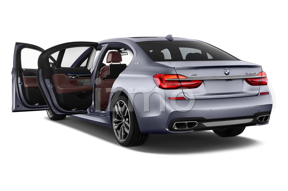 Car images close up view of a 2018 BMW 7 Series M760 Li 4 Door Sedan doors
