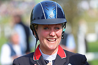 5th September 2021; Bicton Park, East Budleigh Salterton, Budleigh Salterton, United Kingdom: Bicton CCI 5* Equestrian Event; Gemma Tattersall delighted with her 5* win