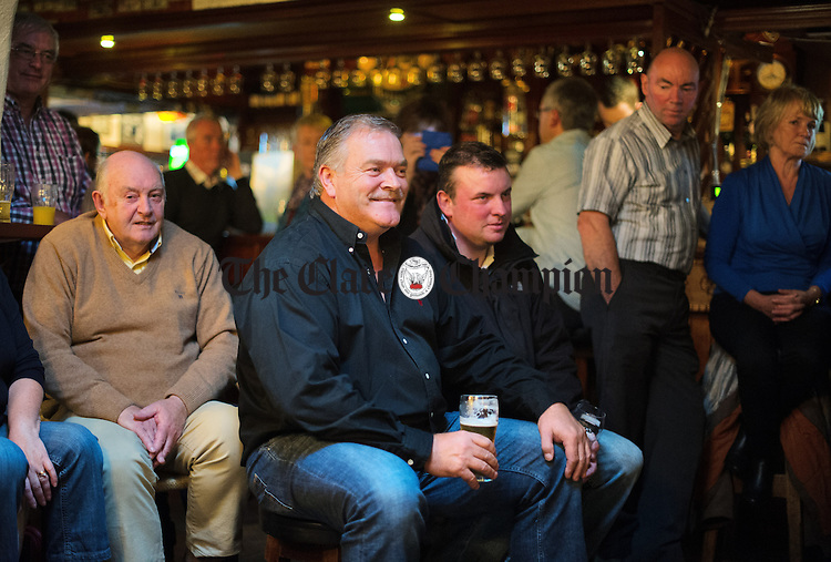 Punters enjoy the music during a session as part of the Sean Nos and Trad festival at O Connor's Pub in Doolin. Photograph by John Kelly.