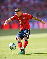 12.05.2018, Football 1. Bundesliga 2017/2018, 34.  match day, FC Bayern Muenchen - VfB Stuttgart, in Allianz-Arena Muenchen.  James Rodriguez (FC Bayern Muenchen) . *** Local Caption *** © pixathlon<br /> <br /> +++ NED + SUI out !!! +++<br /> Contact: +49-40-22 63 02 60 , info@pixathlon.de