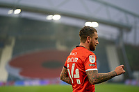 7th November 2020 The John Smiths Stadium, Huddersfield, Yorkshire, England; English Football League Championship Football, Huddersfield Town versus Luton Town; George Moncur of Luton Town  celebrates making it 1-0 to luton in minute 21